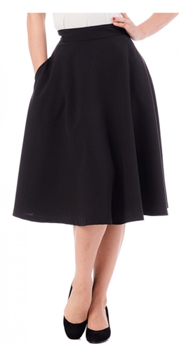 Steady High waist swing skirt Black