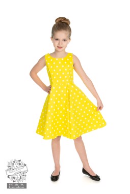 Cindy Polka Dot Swing dress