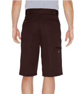 "13"" Loose Fit Multi-Use Pocket Work Short Dark Brown"