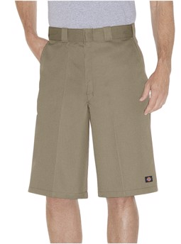 "13"" Loose Fit Multi-Use Pocket Work Short Khaki"