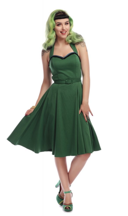 Collectif Beth Fring Doll Dress Green