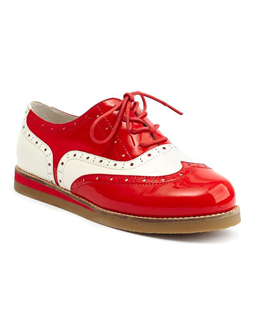Cecilia Wingtip Red/white by Lola Ramona