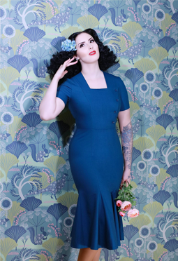 Daisy Dapper Asta Dress Navy