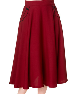 Gracie Swing Skirt Burgundy