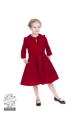 Velvet Tea Dress Burgundy