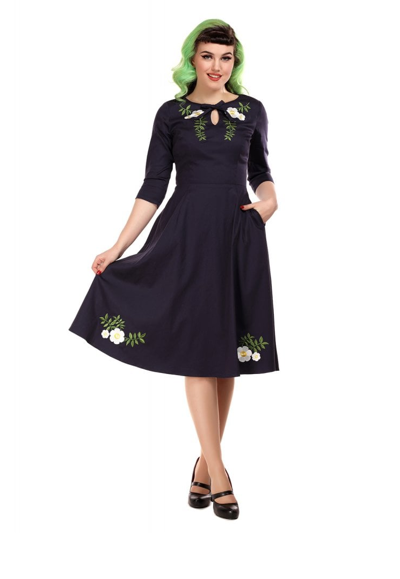 Collectif Rosella Camelia Swing Dress