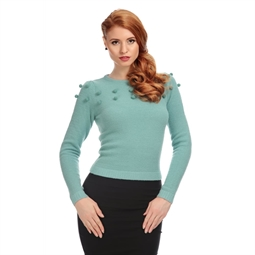 Barbara PomPom Jumpr Green by Collectif