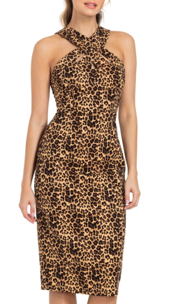 Lauren Leopard Pencil Dress