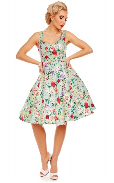 Natalie Retro Floral Swing Dress