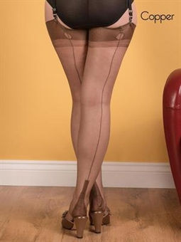 What Katie Did - fully fashioned stockings - Copper