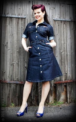 Ladies Denim Dress Rumble59
