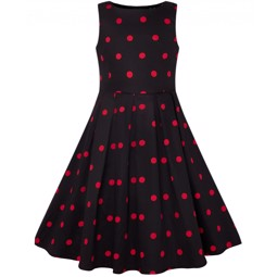 Kids Annie Vintage Inspired Polka dot dress
