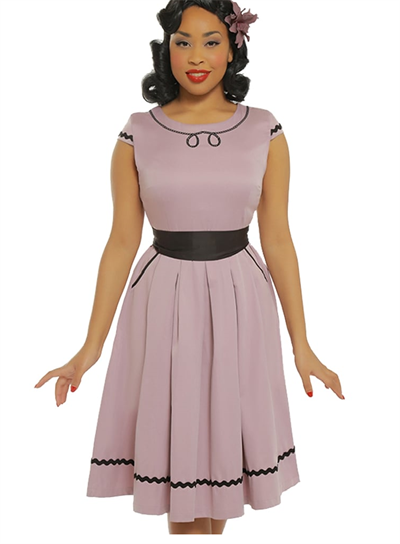 Bethany Lilac Swing Dress