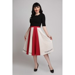 Collectif Lola Le Cirque Swing Skirt Red/Ivory