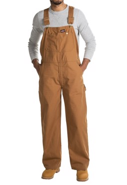 Dickies Bib overalls brown duck