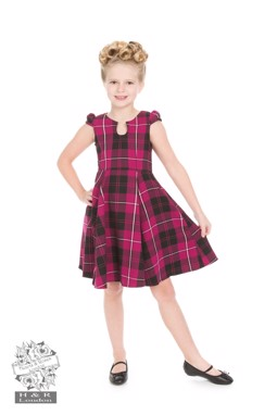 Purple Tartan Tea Dress