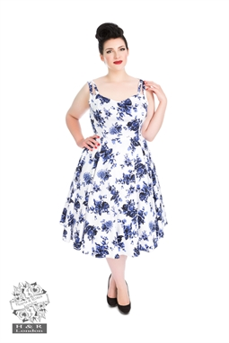 Blue Rosaceae Swing Dress PLUS SIZE