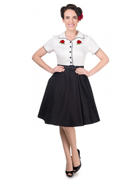 Cherry Rockabilly Diner Dress