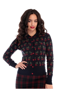 Wendy Cherry Cardigan by Collectif